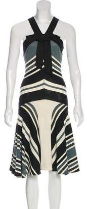 Lanvin Striped Midi Dress