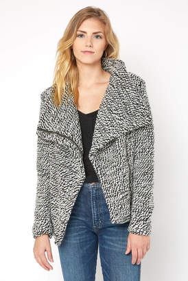 Blank NYC Marled Knit Drape Jacket