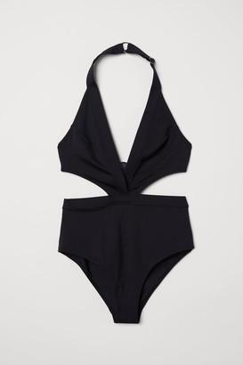 H&M Cut-out Swimsuit - Black