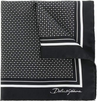 Dolce & Gabbana polka dot print pocket square