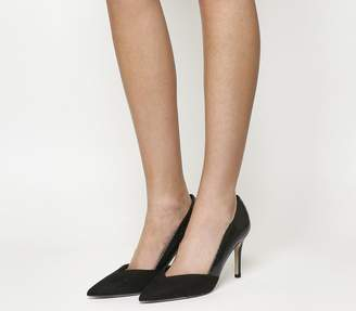 bac40909cd Office Freak Out Point Court Heels Black Snake