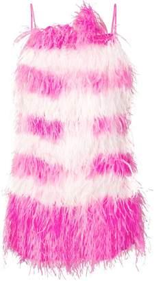 MSGM feather fringe mini dress