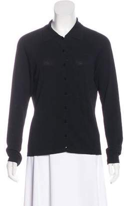 White + Warren Knit Button-Up Top