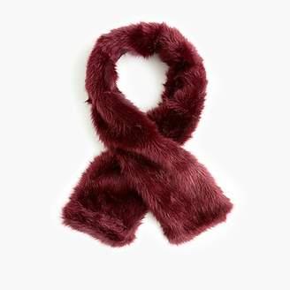 J.Crew Faux-fur skinny scarf stole