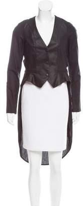 Domenico Vacca Short Sleeve Knee-Length Jacket