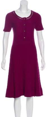 Tory Burch Merino Wool Midi Dress