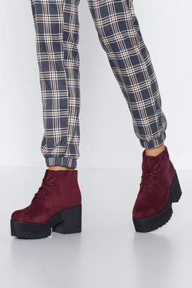 Nasty Gal Run Off My Feet Faux Suede Boot
