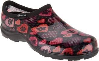 Sloggers Waterproof Cross Stitch Paw Prints Garden Shoe