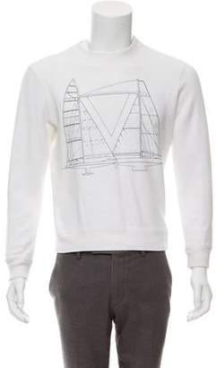 Louis Vuitton 2017 Sailboat Print Sweatshirt black 2017 Sailboat Print Sweatshirt