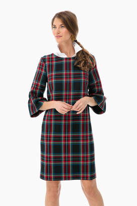 Vineyard Vines Jolly Plaid Flutter Sleeve Dress