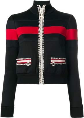 Gucci crystal-embellished technical jersey sweatshirt