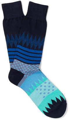 Paul Smith Yuzu Intarsia Cotton-Blend Socks