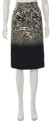 Giambattista Valli Animal Print Pencil Skirt