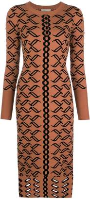 Temperley London patterned knit dress