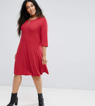Junarose 3/4 Sleeve Skater Dress