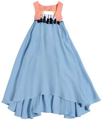 Piano Cotton Poplin & Viscose Dress