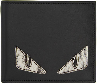 Fendi Black Snakeskin Monster Eyes Wallet $500 thestylecure.com
