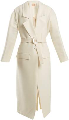 ALBUS LUMEN Elle wool and silk-blend coat