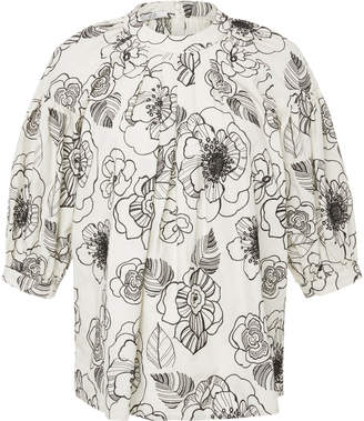 Co Floral Pleated Blouse
