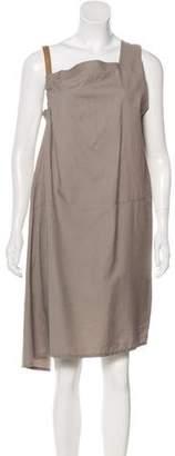 Brunello Cucinelli Asymmetrical Midi Dress