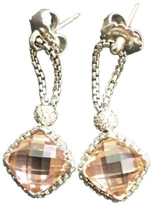Pre Owned At Truefacet David Yurman Yurmam Cushion On Point Morganite And Diamond Earrings