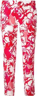 Roberto Cavalli printed slim trousers