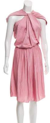 Lanvin Draped Satin Dress