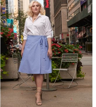 Simplicity Patterns Simplicity Women's Size 26W-34W Easy Wrap Skirts Pattern, 1 Each