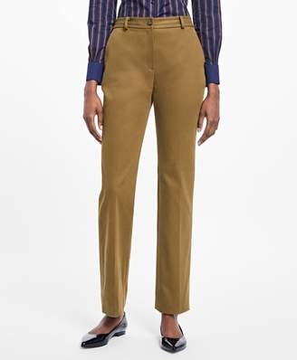 Brooks Brothers Petite Stretch-Cotton Twill Pants