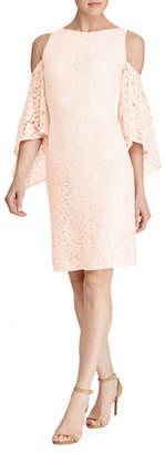 Lauren Ralph Lauren Bell-Sleeved Lace Evening Dress