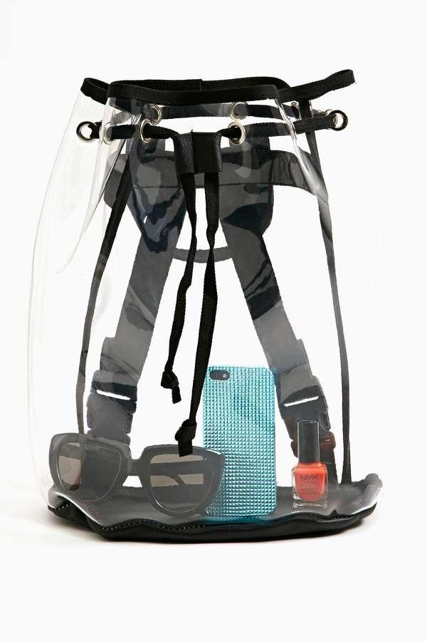 Nasty Gal Clear Cut Backpack
