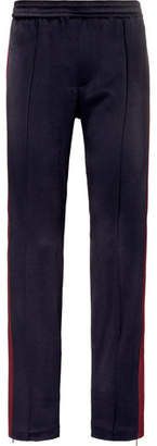 Valentino Stripe-Trimmed Satin-Jersey Trousers