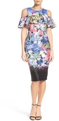 Women's Eci Cold Shoulder Sheath Dress $88 thestylecure.com