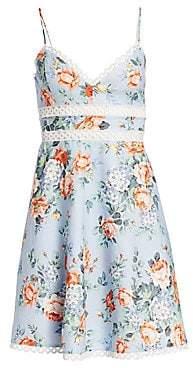 Zimmermann Women's Bowie Floral Lace Eyelet A-Line Sun Dress