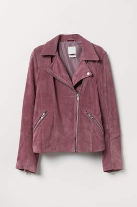 H&M Suede Biker Jacket - Purple