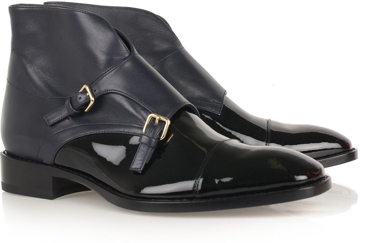 Jil Sander Leather monk-strap ankle boots