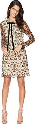 Betsey Johnson Women's Velvet Burnout Long Sleeve Dress