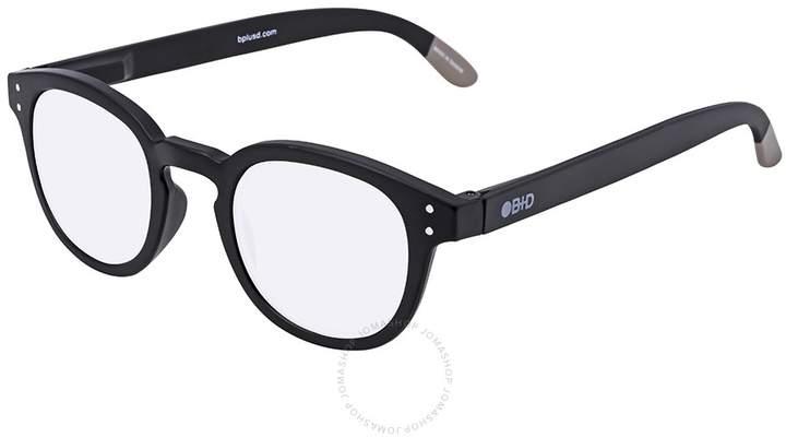B+D Blue Ban Reader Matt Black Eyeglasses