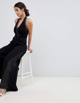Coast Mila pearl trim jumpsuit