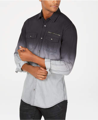 INC International Concepts I.n.c. Men's Regular Fit Dip Dyed Shirt
