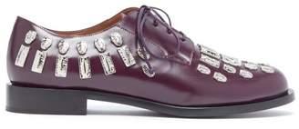 Samuele Failli - Maya Hammered Metal Applique Derby Shoes - Womens - Burgundy