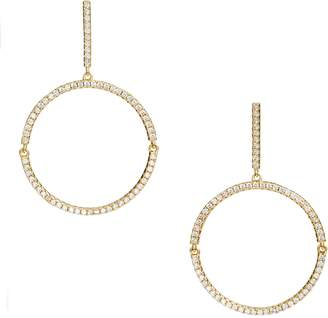 Nordstrom Pave Hinge Open Circle Linear Drop Earrings
