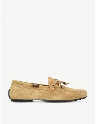 Ralph Lauren Purple Label Slip-on suede loafers