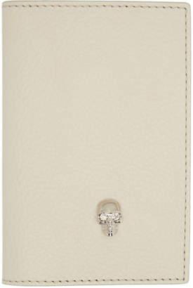 Alexander McQueen Off-White Skull Bifold Card Holder