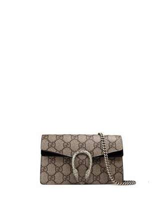 Gucci Dionysus GG Supreme Super Mini Bag $740 thestylecure.com