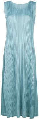 Pleats Please Issey Miyake pleated flared dress