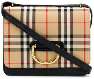 Burberry check cross body bag