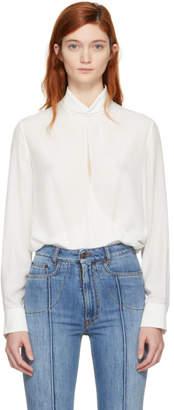 Chloé Off-White Open Front Blouse