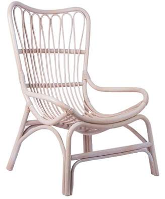 White Wash Rattan Papillion Chair