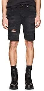 Ksubi Men's Axel Distressed Denim Shorts - Black